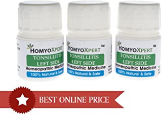 HomyoXpert Tonsillitis (Left Side) Homeopathic Medicine For One Month