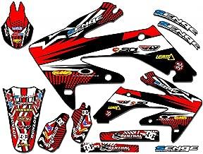 Senge Graphics Kit Compatible with Honda 2004-2010 CRF 80/100 Mayhem Red Graphics kit