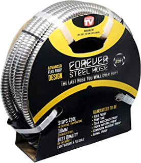 Forever Steel Hose (25` 304 Stainless Steel Garden Hose - As Seen On TV - Lightweight, Kink-Free, and Stronger Than Ever, Durable and Easy to Use