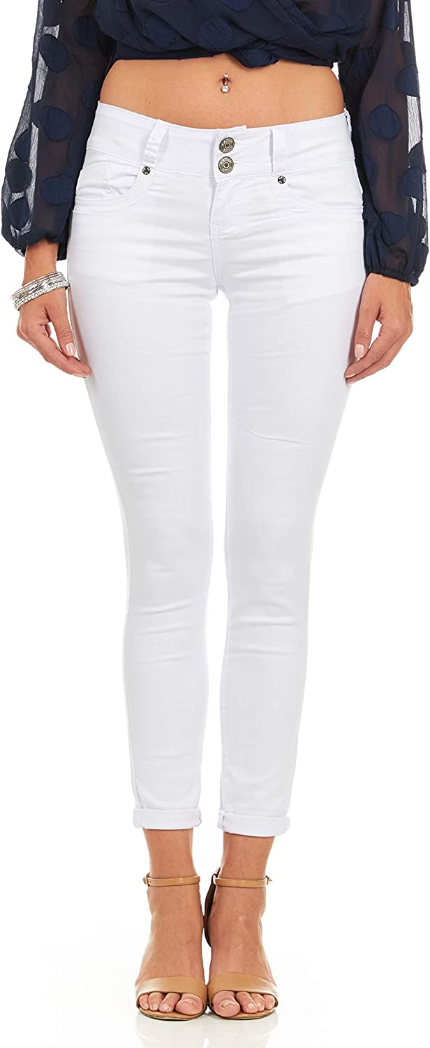 COVER GIRL Women's Mid Rise Ankle Skinny Jeans 4 Colors