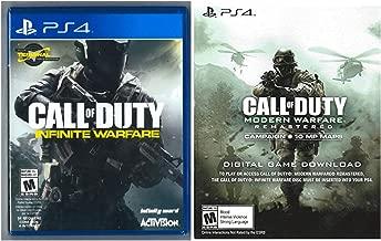 PlayStation 4 Call of Duty Infinite Warfare SPANISH PACKAGING/ENGLISH GAMEPLAY + Modern Warfare Remastered Digital Game - Legacy Edition