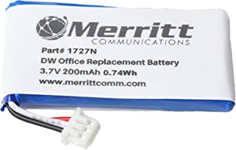 Merritt Compatible Replacement Battery for Sennheiser Officerunner, DW Pro, MB Pro and SD Pro Wireless Headsets