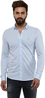 Mufti Button Down Plain Full Sleeves Shirt