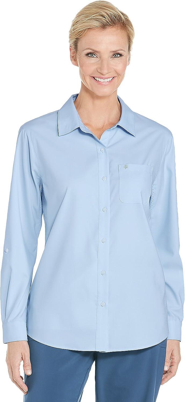 01389 Women's Sun Shirt UPF 50 Light bluee 2X