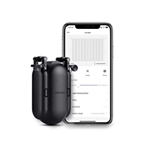 SwitchBot Curtain Smart Electric Motor - Wireless App or Automate Timer Control, Add Hub Mini/Plus Compatible with Alexa, Google Home, HomePod, IFTTT (I-Rail, Black)