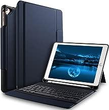 Bosewek Keyboard Case for New iPad 9.7 2018 - Lightweight One-Piece Wireless Keyboard Case with Pencil Holder for Apple New iPad 9.7 2018 2017 iPad Pro 9.7 iPad Air 2 iPad Air Tablet (Blue)