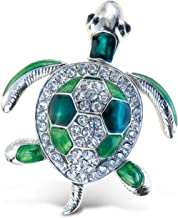 Puzzled Sea Turtle Refrigerator Sparkling Magnets with Crystals Ocean/Sea Life Theme Unique Affordable Gift and Souvenir Item #7209