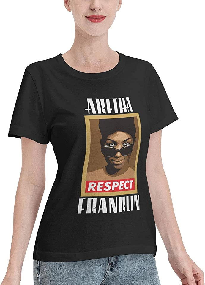 ChristopherDGray Aret-Ha Frank-Lin T Shirt Woman's Summer Cotton Tees Crew Neck Short Sleeves Shirts