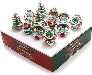 Radko Shiny Brite Holiday Splendor 12 count Shapes & Bell Ornaments