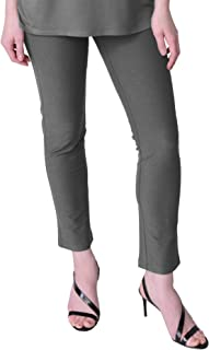 Eileen Fisher Smoke Washable Stretch Crepe Slim Ankle Pant Size XL MSRP $158