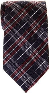 Retreez Stylish Plaid Checkered Woven Microfiber Men's Tie - Various Colors