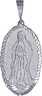 Sterling Silver Virgin Mary Pendant Necklace