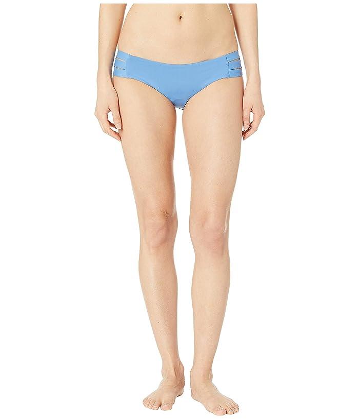 Vitamin A Swimwear Emelia Triple Strap Bottom (Mediterranean Blue EcoLux) Women