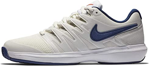 NikeCourt Men's Air Zoom Prestige Hard Court Tennis Shoe (10 M US, Phantom/Sail/Orange Blaze/Blue Void)