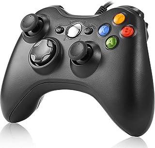 Xbox 360 コントローラー NIJIAKIN マイクロソフト ゲームコントローラー 有線/Xbox/PC 対応 ブラック Xbox360 Controller for Windows