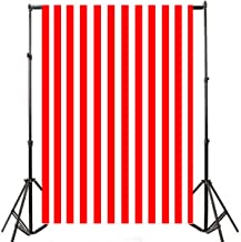 Yeele 6x9ft Red and White Stripe Photo Backdrops Vinyl Vertical Line Design Background for Background Wall Baby Shower Newborn Child Girl Birthday Party Artistic Video Shoot Studio Props