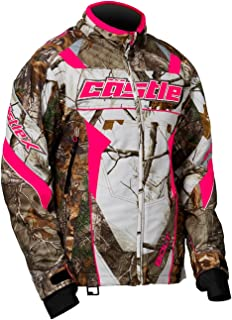 Castle X Bolt Realtree G4 Womens Snowmobile Jacket - Realtree/Hot Pink - MED