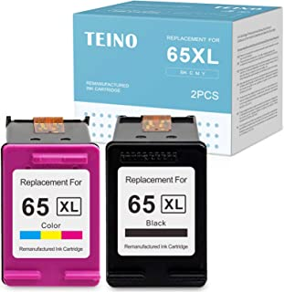 TEINO Remanufactured Ink Cartridges Replacement for HP 65 65XL 65 XL use with HP Envy 5055 5052 5010 5020 DeskJet 3755 265...