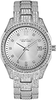 Carevelle New York Women's Quartz Stainless Steel Watch, Color:Silver-Toned (Model: 43M112)