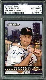 Orioles Cal Ripken Jr. Signed Card 2004 Studio #27 Slabbed - PSA/DNA Certified - Baseball Slabbed Autographed Cards