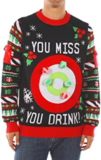 Men's Drinking Game Ugly Christmas Sweater - Funny...