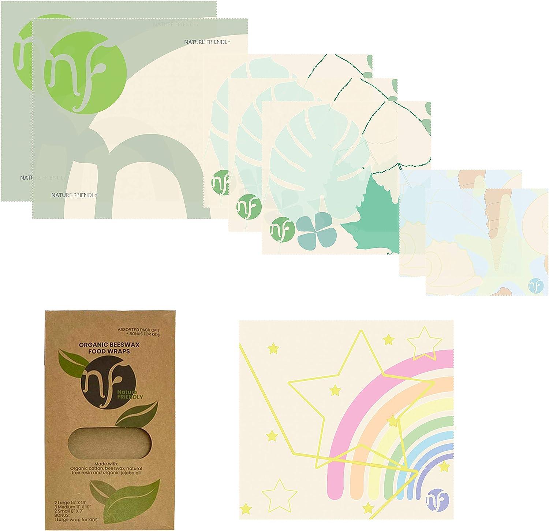 Nature Friendly Beeswax Reusable Spasm Award-winning store price Wraps Organic Food Wrap