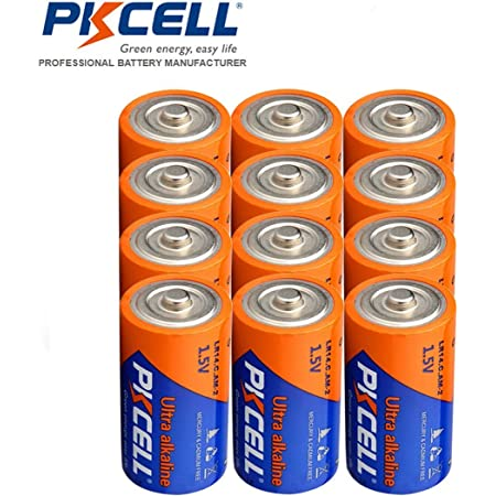 Amazon Com Lr14 1 5v Alkaline Batteries 12 Pack C Cell Home Audio Theater