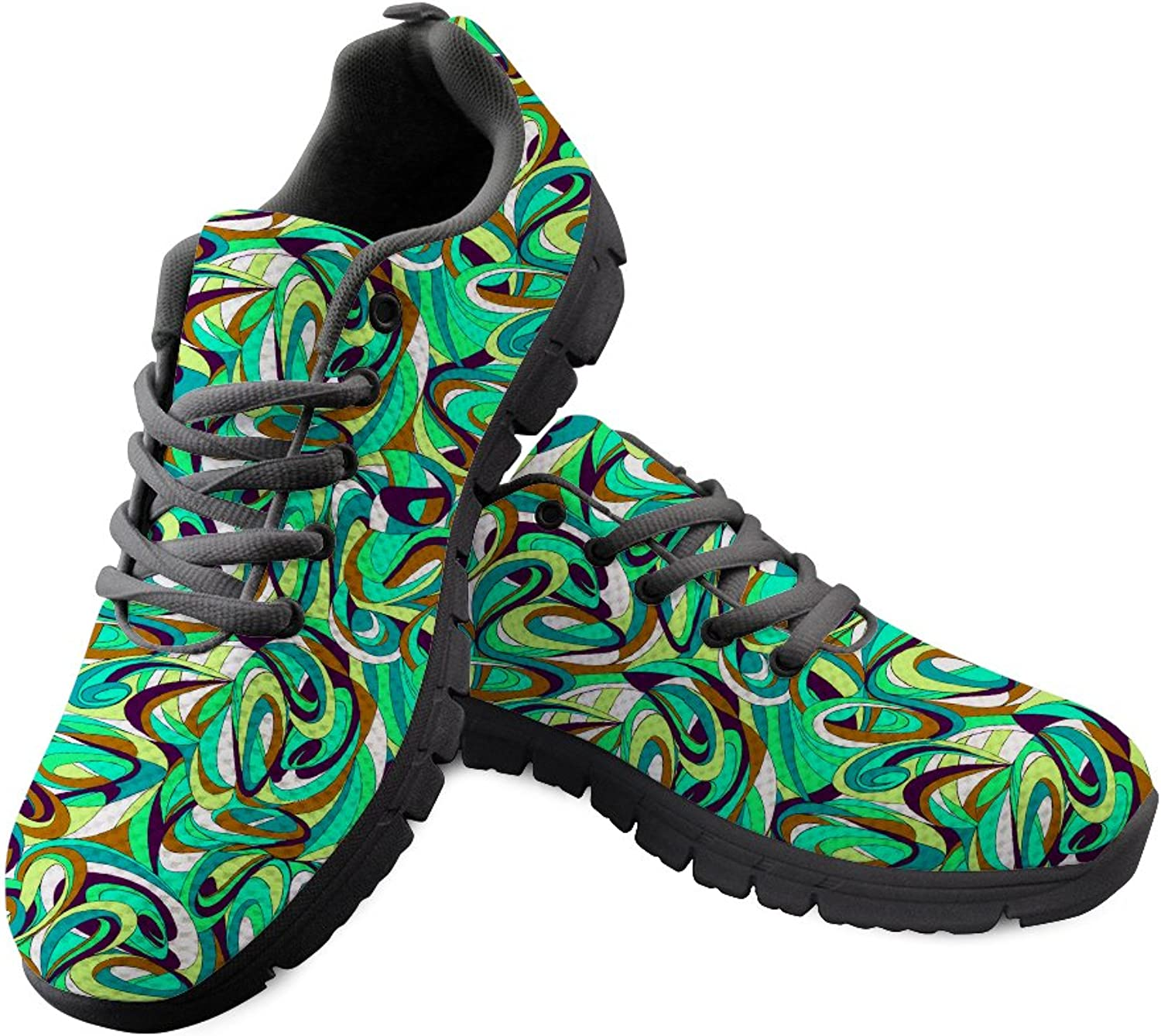Chaqlin Sports shoes Trainers Athletic Running Sneakers for Girl Boy Green Size 40