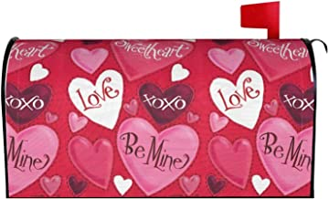Valentijnsdag brievenbus Cover, Vintage strepen liefde harten bloemen brievenbus cover magnetische post wraps post tuin de...