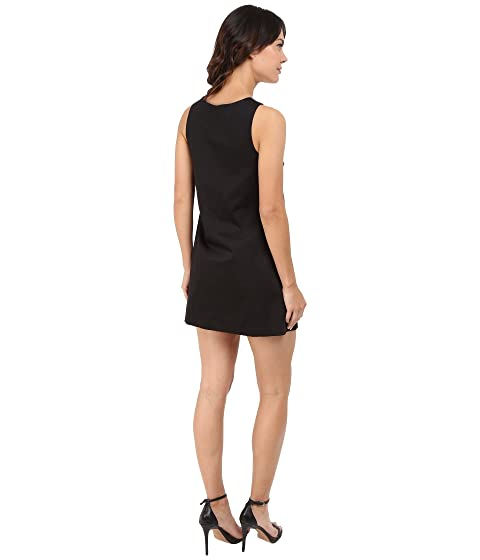 Simpson de Jessica satén vestido delantero algodón JS6D8560 sólido negro lazo con de U77qgCw
