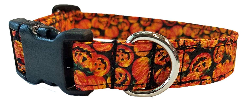 Jack o New item Lantern Dog Collar - pumpkin Fall Puppy Choice Halloween orange