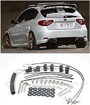 Extreme Online Store for 2008-2014 Subaru STi / 2011-2014 WRX Hatchback Models | EOS Rear Wing Spoiler Riser Extension Full Kit
