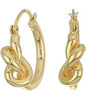 Twisted Knot Hoops Earrings
