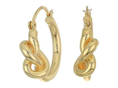 Rebecca Minkoff Twisted Knot Hoops Earrings (Gold 1) Earring