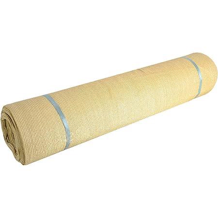 "Fence4ever 5'8"" x 50ft Tan Beige Sunscreen Shade Fabric Roll 95% Uv Block"