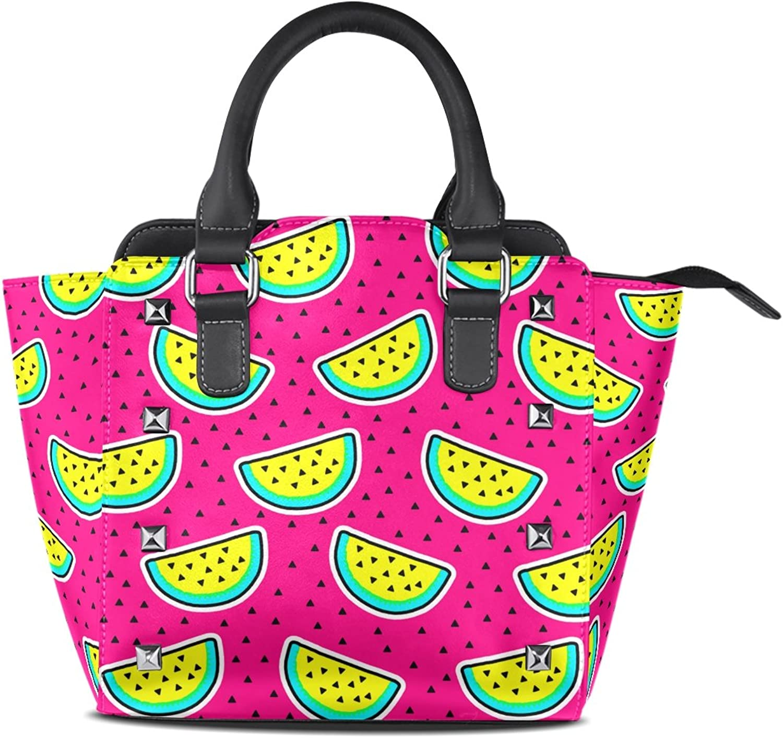 My Little Nest Women's Top Handle Satchel Handbag Summer Watermelon Ladies PU Leather Shoulder Bag Crossbody Bag