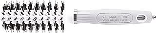 Olivia Garden Ceramic + Ion Turbo Vent Combo 100% Boar & Nylon Hair Brush 22mm - Anti-Static & Tourmaline-Ion