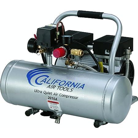 California Air Tools 2010A Ultra Quiet and Oil-Free 1.0 HP 2.0-Gallon Aluminum Tank Air Compressor,Silver