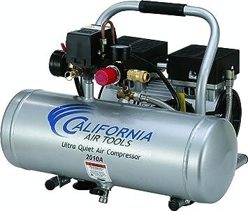 California Air Tools 2010A Ultra Quiet and Oil-Free 1.0 HP 2.0-Gallon Aluminum Tank Air Compressor,Silver: image
