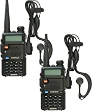 BaoFeng UV-5R Dual Band 136-174/400-480 MHz FM Ham Two Way Radio, Improved Stronger Case, Enhanced Features(Black 2 Pack)