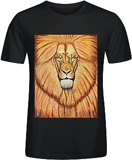 Lion Pec O-Neck T-Shirt For Mens
