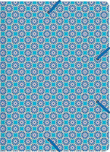 Cedon verzamelmap de luxe patroon tegel turquoise