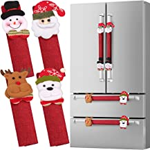D-FantiX Refrigerator Door Handle Covers Set of 8, Santa Snowman Kitchen Appliance Covers Fridge Microwave Oven Dishwasher...