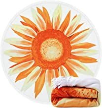 DCBAPRJKE Penis Printed Round Beach Towel Yoga Picnic Mat Roundie Tablecloth Ultra Soft Super Water Absorbent Terry Towel with Tassels