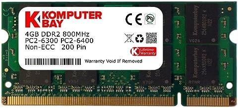 Komputerbay 4GB DDR2 800MHz PC2-6300 PC2-6400 DDR2 800 (200 PIN) SODIMM Laptop Memory