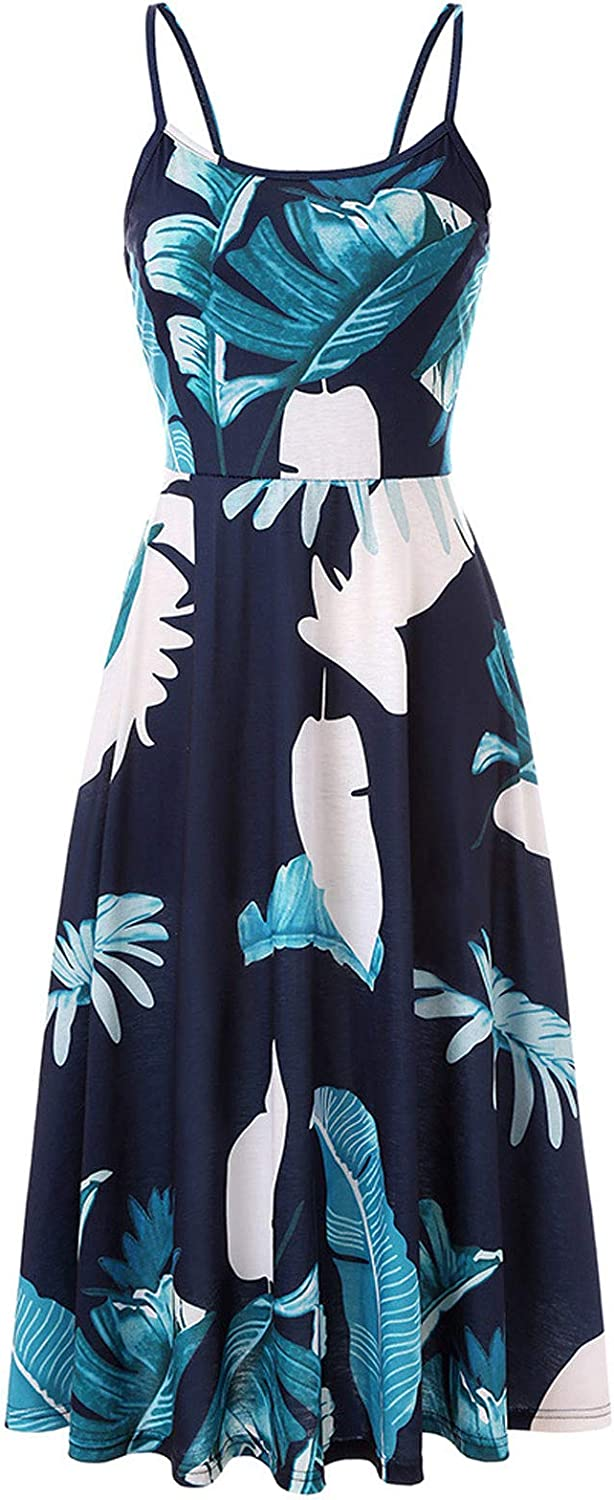 Auwer Cheap mail order specialty store Dress for Women Sexy Very popular Sling Print Floral Sle Backless