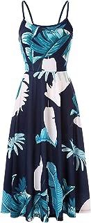 N-B Vestido Mujer Verano 2021 Fiesta Tirantes Sexy Elegantes Bohemia Playa Largos Talla Grande Originales Dibujos de Flora...