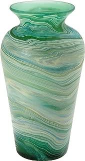 Ten Thousand Villages Hand Blown Phoenician Glass Vase 'Deep Currents Vase'