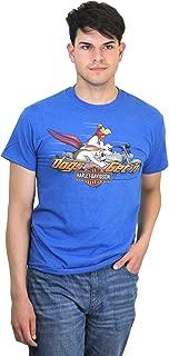 Mens WB Get It Foghorn Motorcycle Blue Short Sleeve T-Shirt