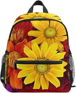 MASSIKOA Gerbera Autumn Flower Floral Lightweight Travel School Backpack for Boys Girls Kids
